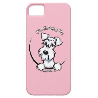Rosa blanco del Schnauzer IAAM iPhone 5 Funda