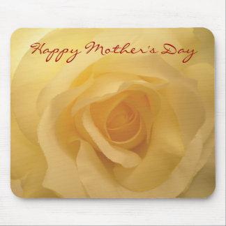 Rosa blanco feliz Mousepad del día de madre Alfombrilla De Ratones