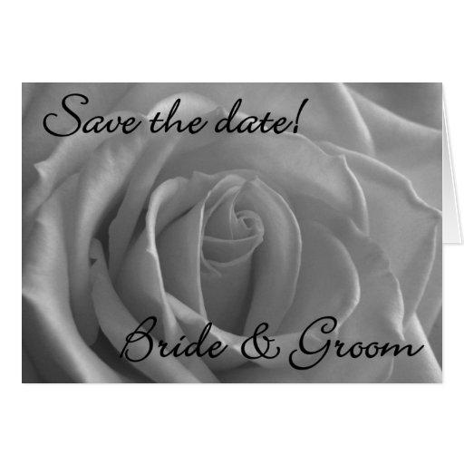 """Rosa blanco floral """"reserva tarjeta de la fecha"""""""