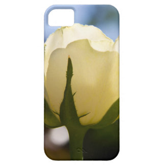 Rosa blanco funda para iPhone 5 barely there