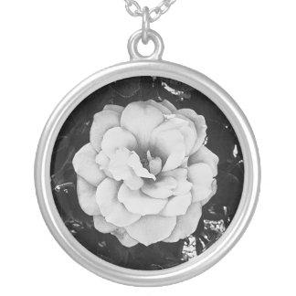 Rosa blanco hermoso colgante redondo