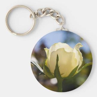Rosa blanco llaveros personalizados