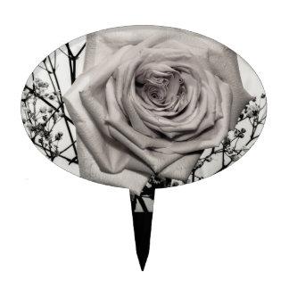 Rosa blanco magnífico decoración de tarta