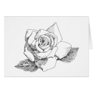 Rosa blanco Notecard Tarjeta De Felicitación