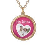 Rosa/blanco personalizados marco del corazón de la collar