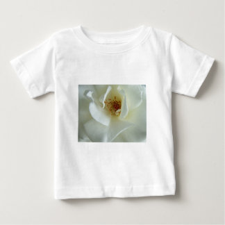 Rosa blanco playera para bebé