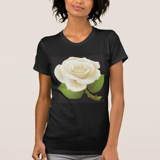 Rosa blanco puro camiseta