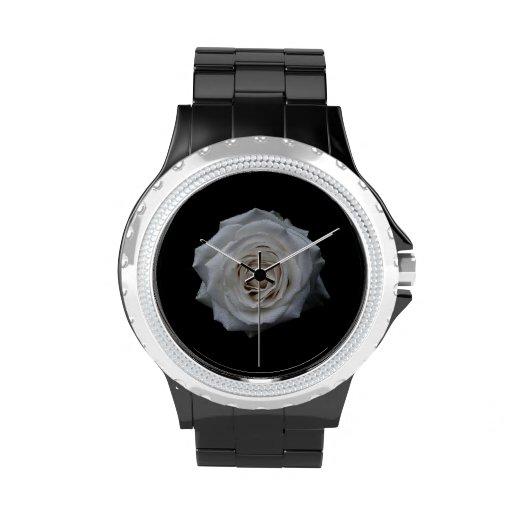 Rosa blanco reloj