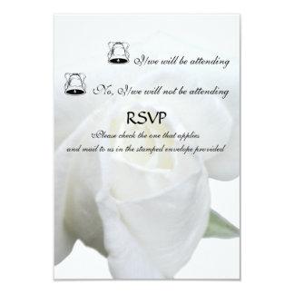 Rosa blanco RSVP formal Invitación 8,9 X 12,7 Cm