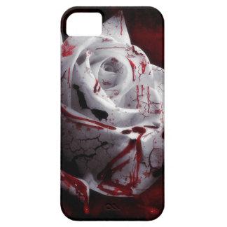 Rosa blanco sangriento funda para iPhone 5 barely there