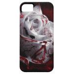 Rosa blanco sangriento iPhone 5 cárcasa