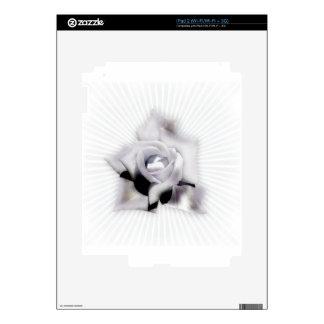 Rosa blanco skins para iPad 2