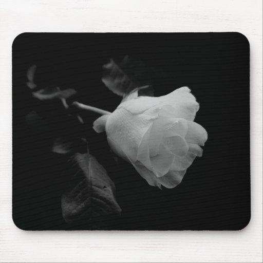 Rosa blanco tapetes de ratones