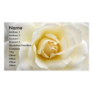 Rosa blanco tarjetas de visita