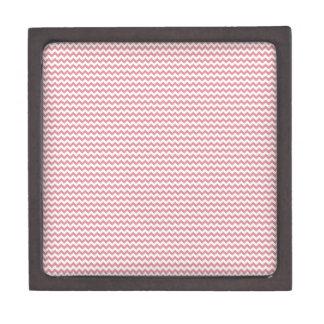 Rosa blanco y rubicundo del zigzag - caja de recuerdo de calidad