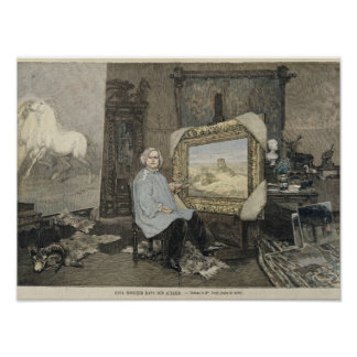 Rosa Bonheur en su estudio Póster