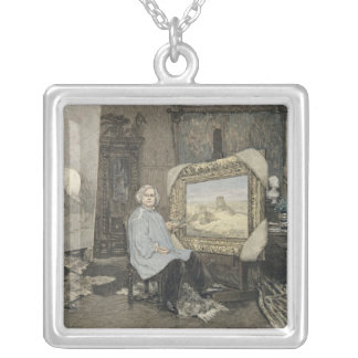Rosa Bonheur  in her studio Silver Plated Necklace