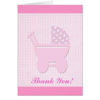 Rosa bonito de la niña tarjeta de felicitación