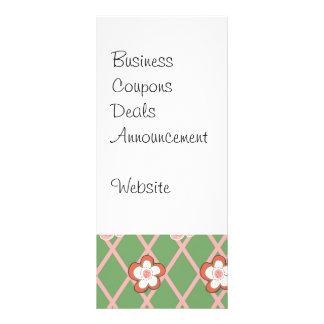 Rosa bonito del verde de los regalos del modelo de diseños de tarjetas publicitarias