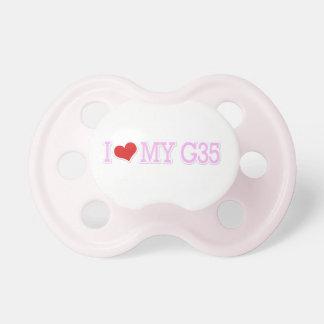 Rosa bonito lindo amo el rosa mi G35 Chupete De Bebé