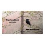 Rosa bonito y cuervo plantillas de tarjetas de visita