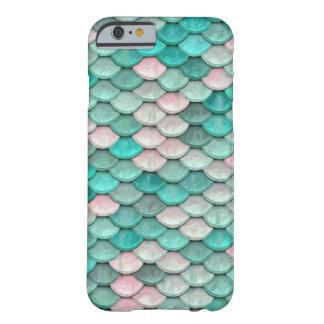 Rosa brillante del verde del modelo del efecto de funda barely there iPhone 6