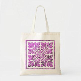 Rosa brillante fresco de la teja inglesa antigua bolsas