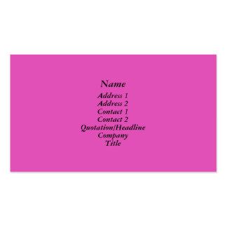 Rosa brillante tarjetas de visita