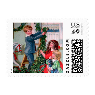 Rosa C. Petherick: Christmas Decorations Stamp