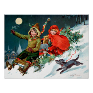 Rosa C Petherick Christmas Shopping Poster