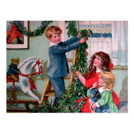 Rosa C. Petherick: Decoraciones del navidad Postal