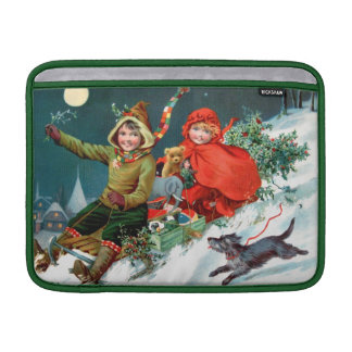 Rosa C Petherick El hacer compras del navidad Fundas MacBook