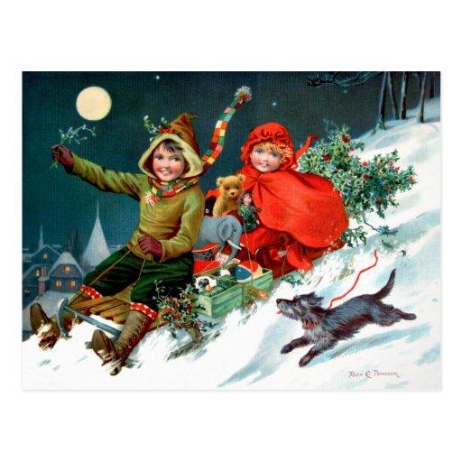Rosa C. Petherick: El hacer compras del navidad Tarjetas Postales