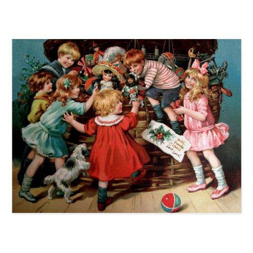 Rosa C. Petherick: La cesta del navidad Postal
