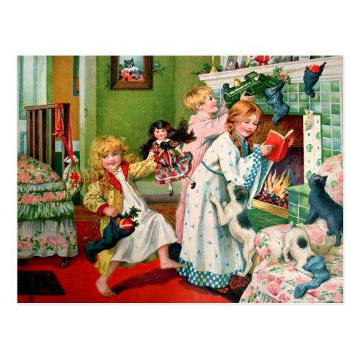Rosa C. Petherick: Mañana de navidad Tarjeta Postal