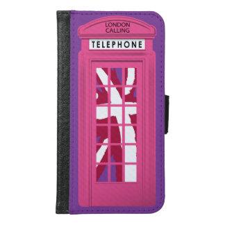 Rosa, cabina de teléfono de Londres del vintage de