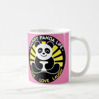 Rosa - café feliz de la sol de la vida de la panda taza clásica