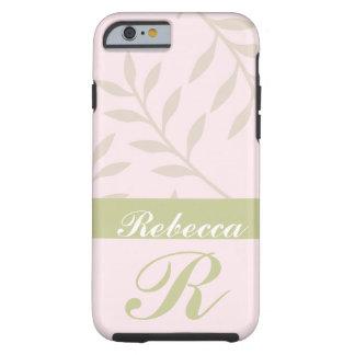 Rosa, caja personalizada sabio del iPhone 6 del Funda De iPhone 6 Tough