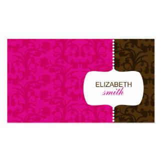 Rosa caprichoso del damasco/tarjeta de visita de B
