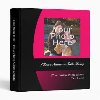 """Rosa/carpeta personalizada negro del álbum de foto carpeta 1"""""""