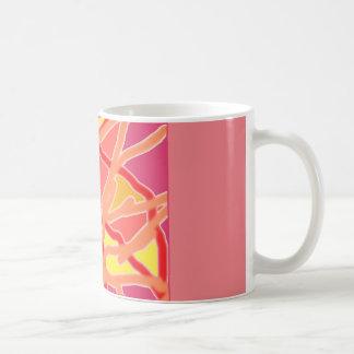 Rosa clásico de la taza en mi caos al diseño de la