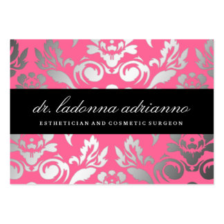Rosa color de rosa de damasco de 311 Ladonna Tarjetas De Visita Grandes