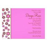 Rosa color de rosa de Devyn de la invitación de Mi