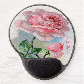 Rosa color de rosa de la belleza, paladio gris del alfombrilla gel