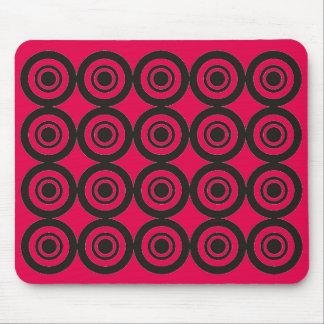 Rosa color de rosa geométrico de moda fresco del mouse pad