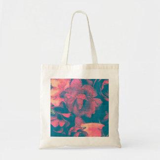 Rosa color de rosa lamentable y cabaña del trullo bolsa tela barata