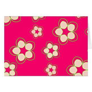 Rosa color de rosa Lotus del kimono Tarjeta De Felicitación