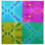 rosa colorido del verde amarillo de la aguamarina  servilleta