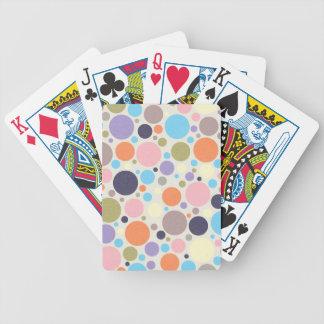 ROSA COLORIDO O de los CÍRCULOS de los LUNARES 847 Baraja Cartas De Poker