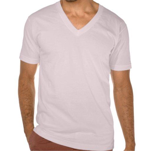 Rosa con cuello de pico de la camiseta del jersey